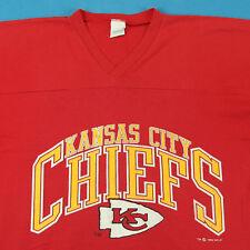 Vintage 90s Kansas City Chiefs Red Football V-Neck Jersey Kc Tee T Shirt Xl