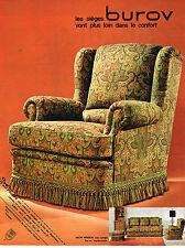 PUBLICITE ADVERTISING 055  1969  BUROV  fauteuil  salon WINDSOR