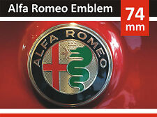 2x74mm 2016 Alfa Romeo GIULIA Emblem Aluminium Logo 147 GT Mito Giulietta 159