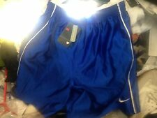 NIKE FOOTBALL SHORTS IN BLUE AT £7 IN LARGE TOP OF RANGE 34/36 INCH
