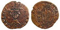Spain- Enrique IV(1454-1474). Cuartillo. Cuenca. MBC+/VF+ Cobre 2 g. Bonita