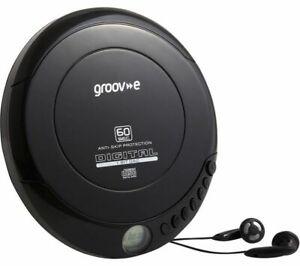 Groov-e GVPS110BK Retro Series Personal CD Player Black AC