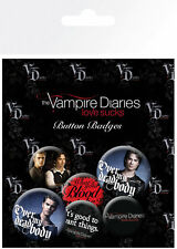 The vampire Diaries Stefan and Dam Badge Pack BP0636 - Brand New