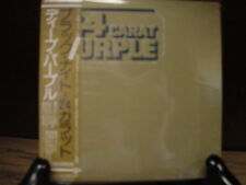 DEEP PURPLE TREMENDOUSLY RARE JAPAN REPLICA OBI LIMITED EDITION  24 CARAT PURPLE