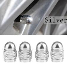 4x Universal Silver Bullet Shaped Auto Car Motorcycle Wheel Tire Valve Cap Seal
