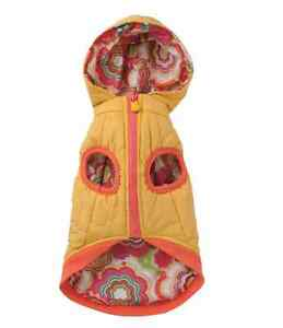 Pet Dog Puppy Cat Clothes, Chupa Chups Flower Power Down Jacket, Yellow, Size L