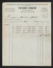 "CHALON-sur-SAONE (71) USINE d'APPAREILS DE CHAUFFAGE ""FAYARD & GIBAUD"" en 1883"