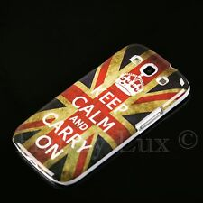 Samsung Galaxy s3 i9300 neo funda rígida, funda protectora, funda, protección motivo estuche keep Calm Carry On
