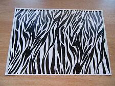 Sticker Bomb sheet - Black + White Tiger skin Print - A4 size