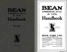 Bean Cars 1928 - Bean Commercial 30 Cwt (W Type) Handbook