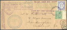 1937 TONGA M.V. MATUA TIN CAN MAIL COVER TO AUCHLAND NEW ZEALAND