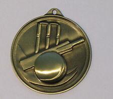 Cricket Medal 3D 50mm Gold Engraved FREE
