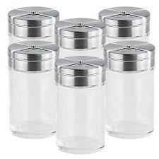 Gewürzgläser: Stilvolles Gewürzstreuer-Set aus Glas, 6-teilig (Gewürzdosen)