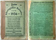 Astrologischer Kalender - Lorcher - 1936