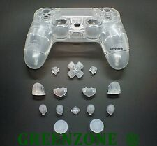 Clear Custom Full Replacement Shell Mod Kit In for Playstation 4 PS4 Controller