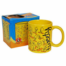 TWEETY PIE MUG Funky Looney Tunes Collage Cartoon Gift Office Cup Kitchen HOME