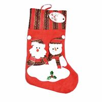 Deluxe Hand Crafted Christmas Snowman Santa Stocking Sack Sock Gift Bags Xmas