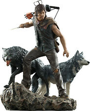 "WALKING DEAD - Daryl & The Wolves 10.25"" Statue (Gentle Giant) #NEW"