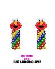 TWO ELMO Sesame Street BIRTHDAY BALLOON COLUMNS DIY KITS Party Decorations