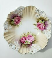 """R.S. Prussia Floral bowl, Marked- 11"""""""