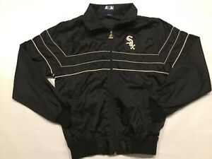 VTG STARTER * Chicago White Sox Full Zipper Long Sleeves Black Windbreaker * NWT