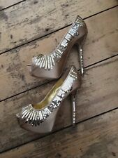 BNWOT Nine West Gold Platform Sequin Heels RRP £120 (BOX 17)