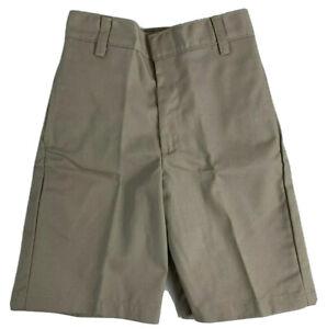 K12 Gear Boys School Uniform Shorts NWT 6447BS Navy or Khaki Size 8 or 10 UNI15