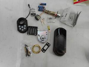 Kwikset Smart Keypad Electronic Deadbolt Door Lock with Security Venetian Bronze