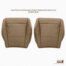 1999 2000 Ford Explorer XLT DRIVER & PASSENGER Bottom Leather Seat Cover Tan