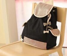 Cute Fashion Women's Canvas Travel Satchel Shoulder Bag Backpack School Rucksack