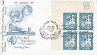 United Nations NY120 - Enveloppe 1er jour 1960 Economic Commission Airmail 4c