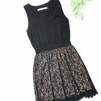 SUSANA MONACO size Medium black lace sleeveless dress