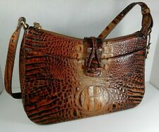 BRAHMIN Alligator Crocodile Embossed Leather Handbag Purse Shoulder Bag