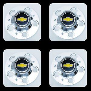 "4PCS CHEVROLET CHEVY GMC TRUCK 5 LUG 15"" 15x8 15x7 RALLY WHEEL CENTER HUB CAPS"