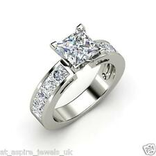 1.96 CT PRINCESS CUT  SOLITAIRE ENGAGEMENT RING SOLID 14carat WHITE GOLD