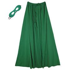 "39"" Adult/Teen Green Superhero Cape & Mask Costume Set ~ HALLOWEEN COSTUME PARTY"
