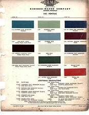 1951 PONTIAC CHIEFTAIN CATALINA DELUXE STREAMLINER PAINT CHIPS RINSHED MASON 4
