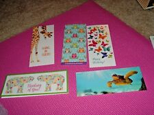 5 unique assorted note cards w/ matching envelopes -