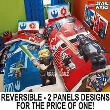 Lego Star Wars Battle Single Panel Duvet Cover Bed Set Gift 2 in 1 Reversible