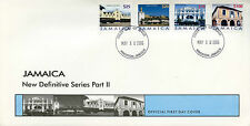 Jamaica 2006 FDC Buildings Definitive Part II 4v Set Cover Theatre Post Office
