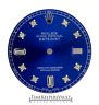 Custom Blue Genuine Diamond Dial to Fit Rolex Datejust Quickset 36mm Model