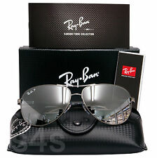 RAY BAN TECH AVIATOR occhiali da sole gunmetal_polarised SPECCHIO D'ARGENTO 8313 004 / K6