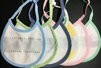 "Zweigart's Terry Cloth Small Baby Bib 7"" x 6"" 16 count Aida Insert Cross Stitch"