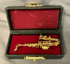 Tenor Saxophone Tie Tack Lapel Pin in Gift Box 2.5""