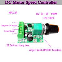 Low Voltage DC3V 5V 6V 9V 12V 2A PWM DC Motor Pump Speed Controller Regulator FY