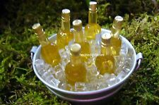 Tub O Beer on Ice Dollhouse Miniature Fairy Garden Faerie Gnome  Hobbit GO 17209