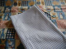 "coupons tissu  "" enfant ""   +  vichy bleu"