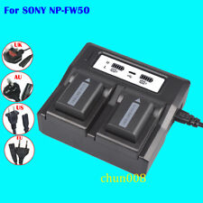 Dual LCD Fast Quick Charger for SONY NP-FW50 Battery NEX-7 NEX-6 NEX-5T BC-TRW