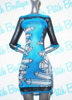 MONSTER HIGH ABBEY BOMINABLE DOLL FASHION PACK OUTFIT REPLACEMENT BLUE DRESS