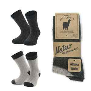 GoWith Natural Thermal Alpaca Wool Socks for Kids Toddlers | 2 Pairs |Model:1096
